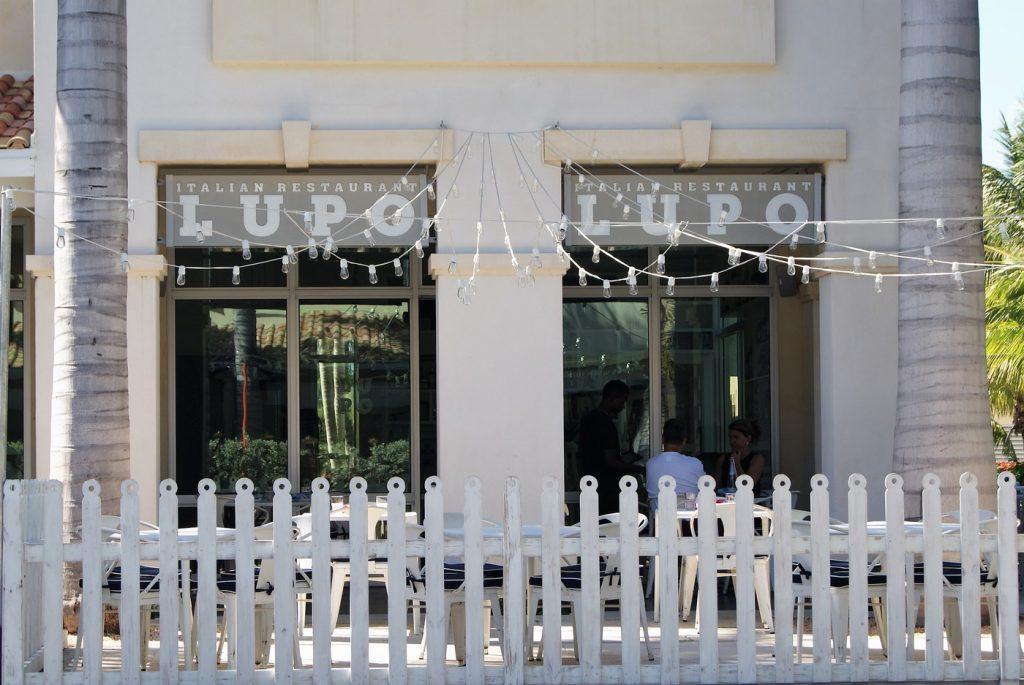 Lupo Restaurant exterior garden