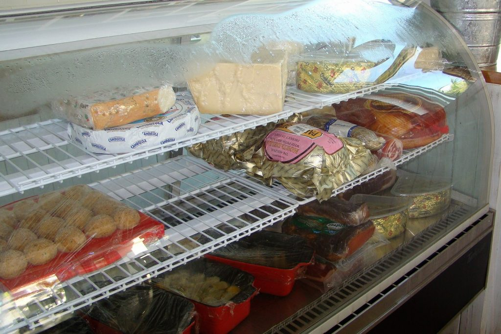 Lupo Restaurant Interior cold meat fridge deli